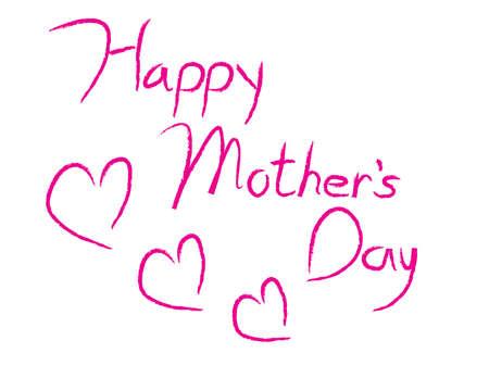 Happy Mother's Day ondertekenen met Illustrator kalligrafie borstel.