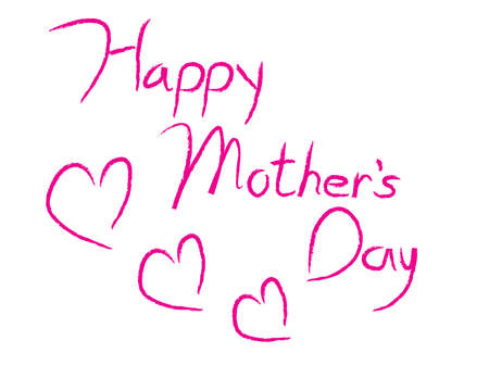 Happy Mothers Day sign made with Illustrator calligraphy brush.