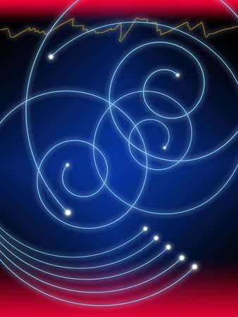 Een abstracte illustratie van glas vezel in de moderne wereld.