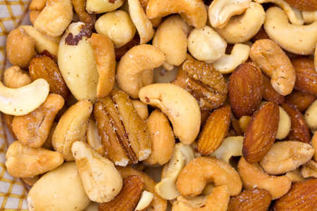 Close-up of a variety of deluxe mixed nuts. Фото со стока