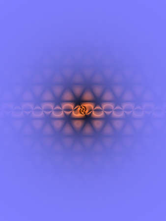 fading: Lavender background with orange current and triangles fading out. Stock Photo