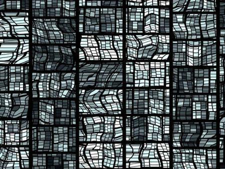 ステンド グラスの窓の外観をシミュレートするグリッド パターンの背景。
