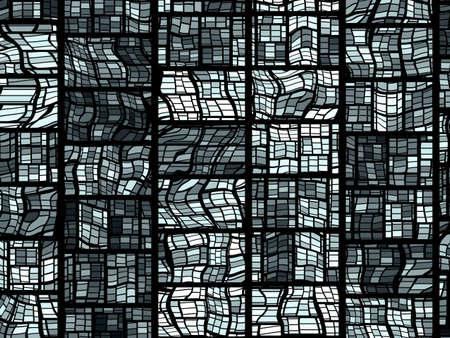 A grid pattern background which simulates the look of a stained glass window.