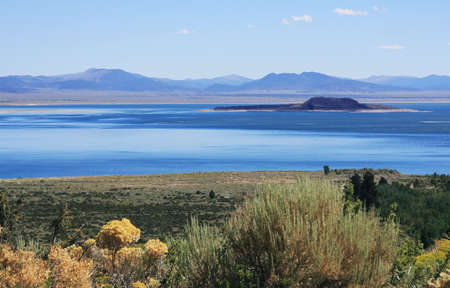 inyo national forest: View of Mono Lake from the visitor center deck.