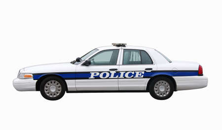 A police car isolated on white