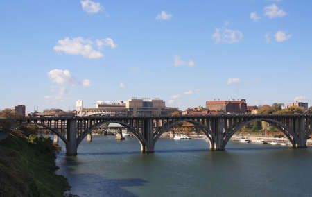 tennessee: View of Chapman Highway bridge, Neyland Stadium and the University of Tennessee campus.