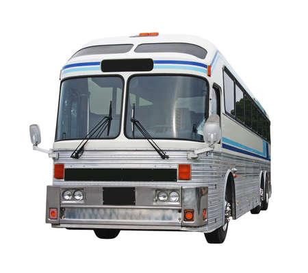 Oude bus geïsoleerd op wit