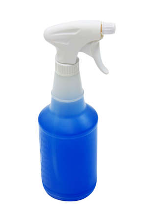 Spray bottle with window cleaner Stock Photo