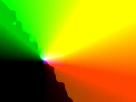 Fractal background pattern with multicolored light rays.