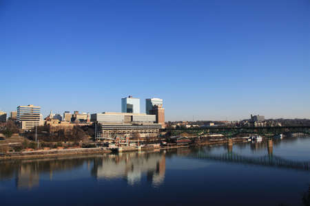 Skyline view of downtown Knoxville, Tennessee from Chapman Highway bridge. Stock Photo - 4263058