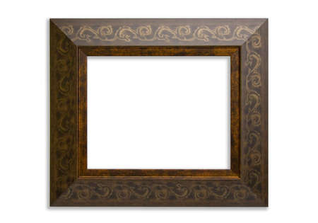 Ornate wood picture frame photo