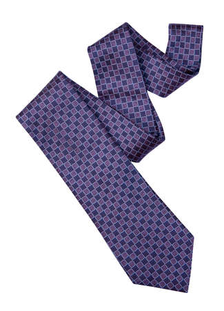 Necktie isolated on white background with clipping .