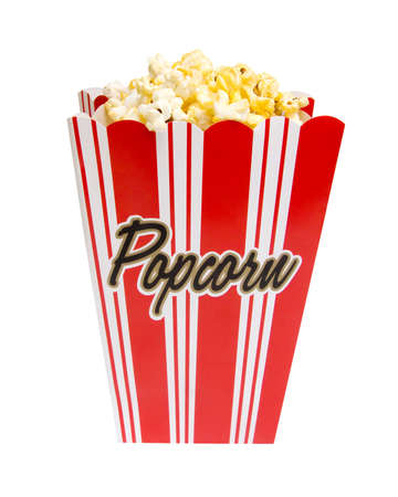 Popcorn container isolated on white  photo