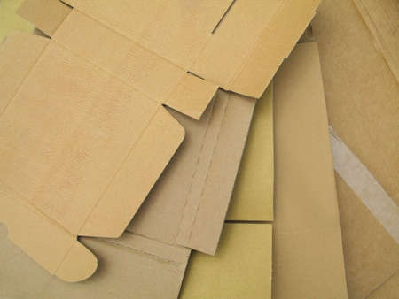 A variety of cardboard broken down for recycling. Stock Photo - 5153413