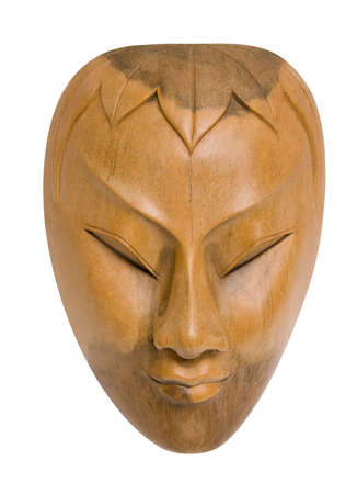 Carved wood mask. Stock fotó