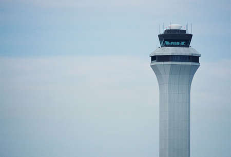 View of the top of a air traffic control tower photo