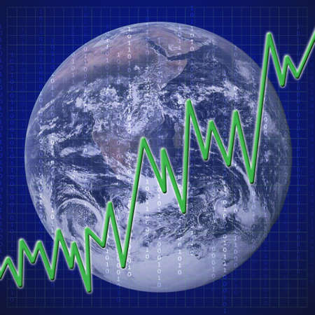 Graph representing the state of world economy. Stock Photo - 6026365