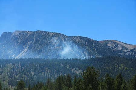 high sierra: Brush Fire in the High Sierra mountains.