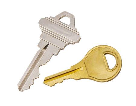 deterrence: Keys isolated on white background