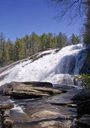 dupont: High Falls at DuPont State Forest, Cedar Mountain, North Carolina Stock Photo