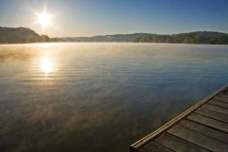 View from dock at Melton Hill Lake, Oak Ridge, Tennessee. photo