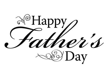 Happy Father's Day type for card or ad.