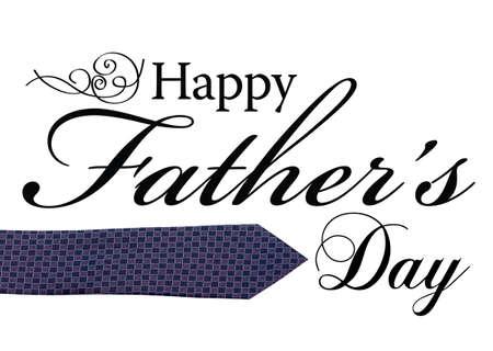 Happy Fathers Day type voor kaart of advertentie.