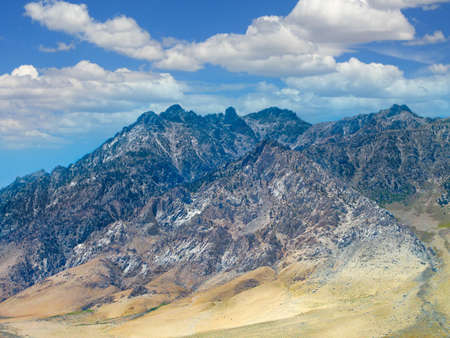 californian: Californian Sierra Nevada Mountains landscape with cloudscape. Stock Photo