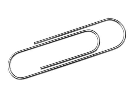 Paper clip isolated on white background Standard-Bild