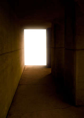 tunnel portals: Light at the end of the tunnel.