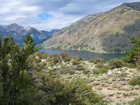 inyo national forest: View of Twin Lakes, Bridgeport, California, USA Stock Photo