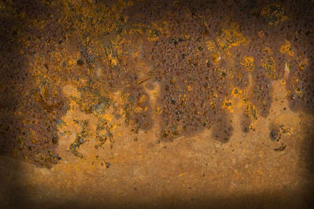 Rusty textured metal background with water drops photo