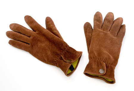 Leather Gloves isolated on white background