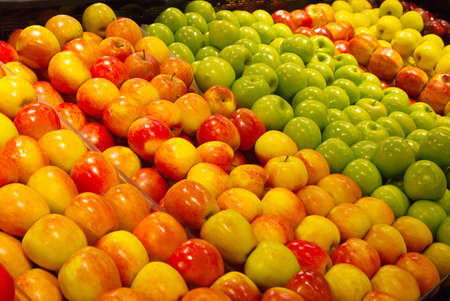 Varieties of apples in a grocery store produce section Stock Photo - 8923205