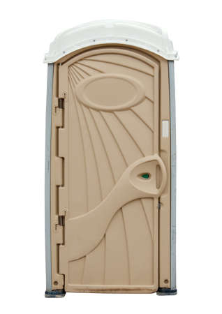out door: Portable Toilet isolated on white background  Stock Photo
