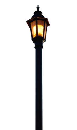 lamp post: Luce Post su sfondo bianco  Archivio Fotografico