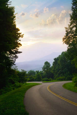 View from the road in the Great Smoky Mountains National Park Stock Photo - 10203939