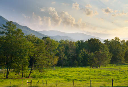 Cades Cove in The Great Smoky Mountains National Park Standard-Bild