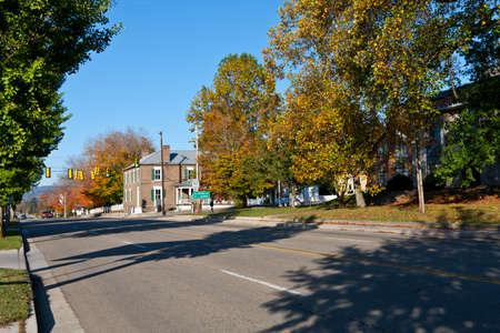 main street: Downtown vista della citt� di Rutledge, Tennessee USA Archivio Fotografico