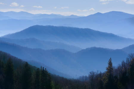 blue ridge mountains: Great Smoky Mountains National Park, Tennessee USA Stock Photo