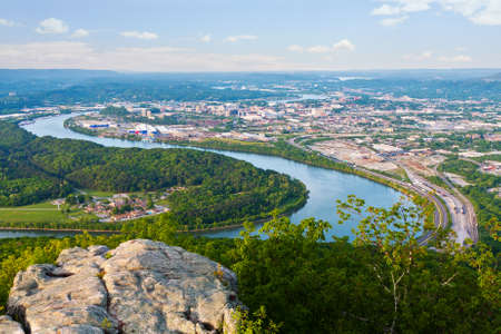 View of Chattanooga, Tennessee from Lookout Mountain Stok Fotoğraf
