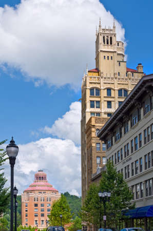 asheville: View of Pack Place in downtown Asheville, North Carolina Stock Photo