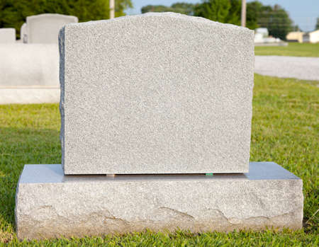 tomb empty: Close-up of a blank tombstone with copy space Stock Photo