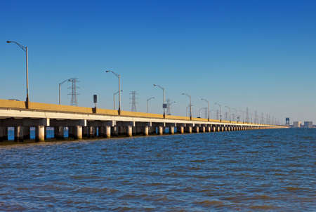 va: James River Bridge, Isle of Wight County, VA Stock Photo