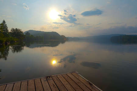 clinch: View from dock at Melton Hill Lake, Oak Ridge, Tennessee