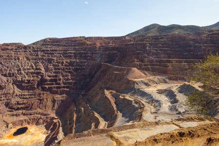 ラベンダーのピットの露天掘り銅鉱山