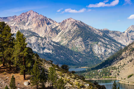 sierras: View of Twin Lakes, Bridgeport, California from Summers Meadows trail