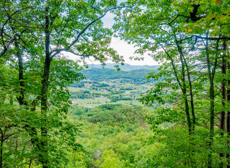 tn: View of Wears Valley from a trail in the Great Smoky Mountains National Park