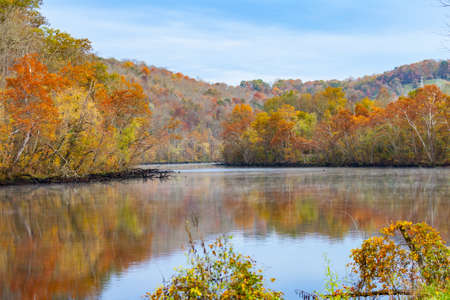state park: Fall color at Norris Dam State Park