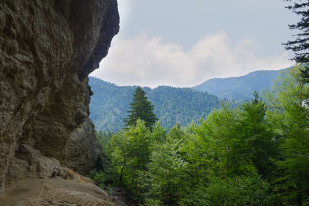 great smoky mountains national park: View of Alum Cave in the Great Smoky Mountains National Park